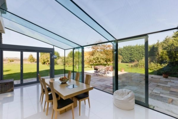 Frameless glass room google search glass room for Glass rooms conservatories