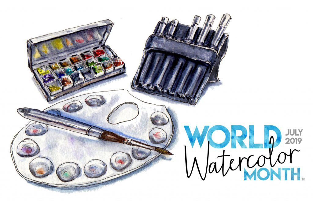 World Watercolor Month In July Founded By Doodlewash Drawing