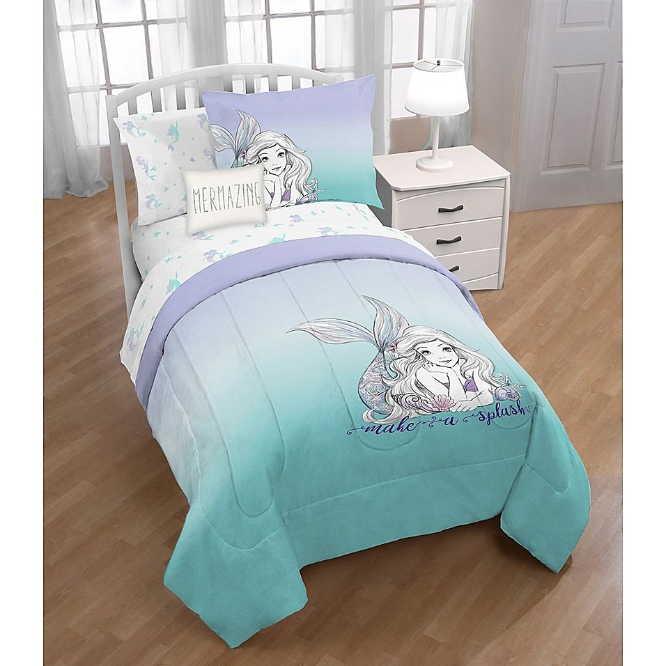 Disney The Little Mermaid Twin/full Comforter Set