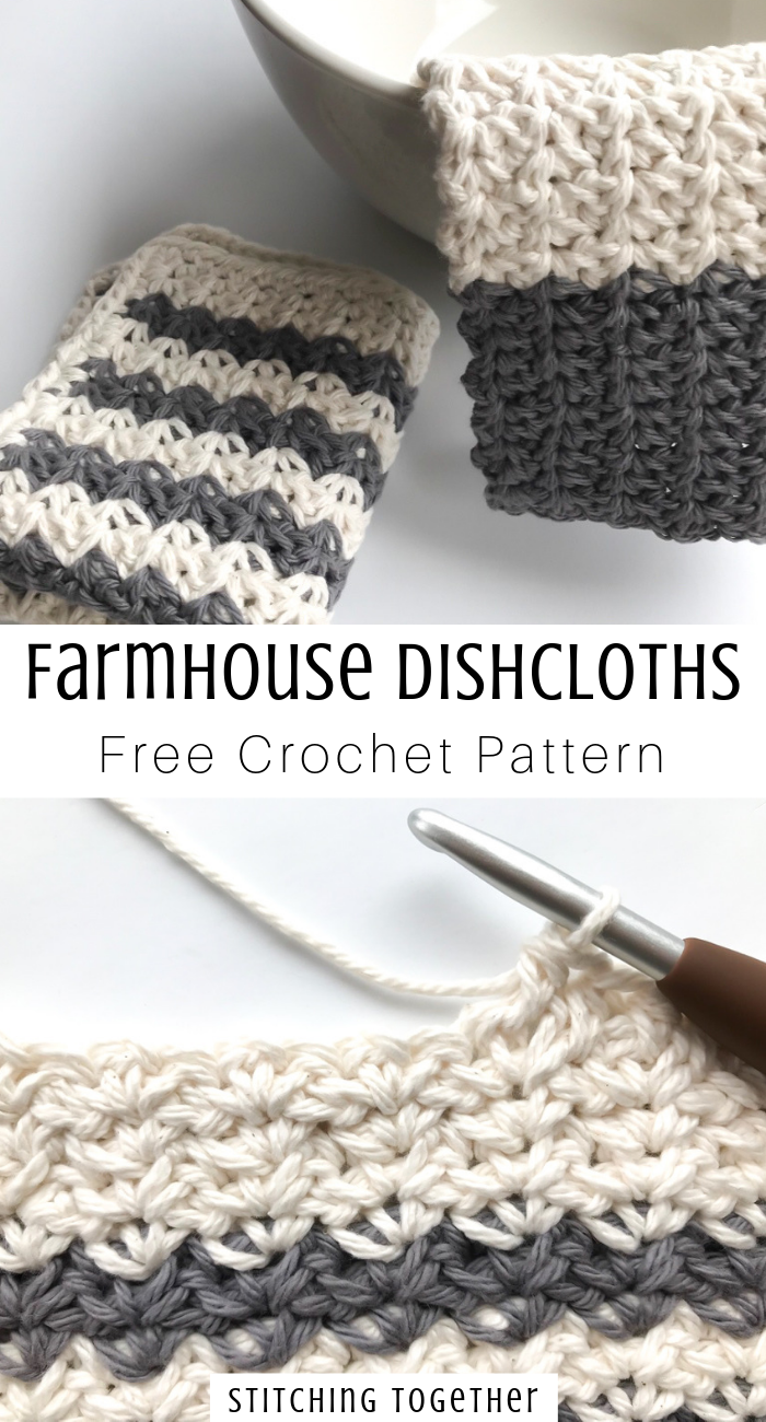 Country Crochet Dishcloth | Stitching Together