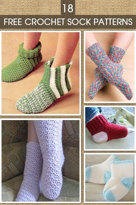 Crochet Sock Patterns | Crochet socks | Pinterest | Ganchillo ...