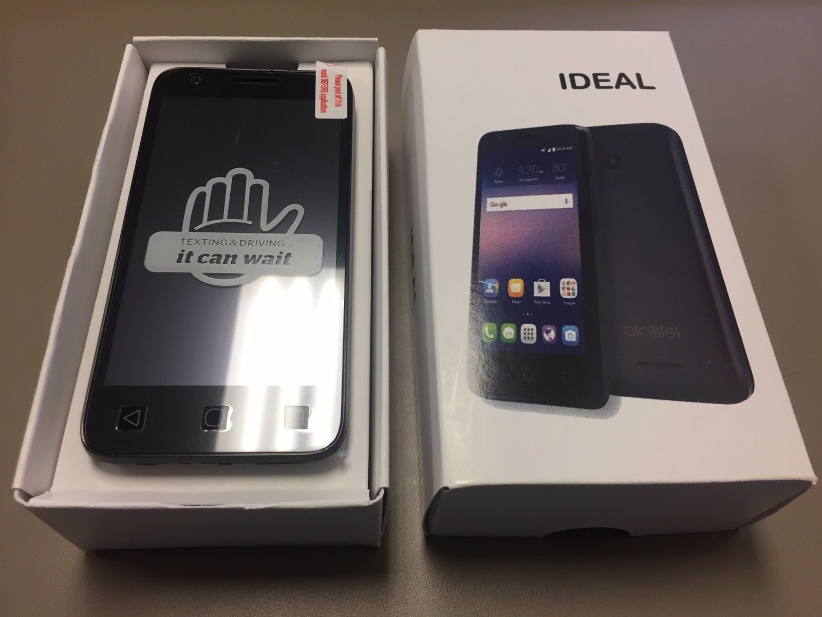 New Alcatel Ideal 4060A GSM UNLOCKED Gray 4G LTE 8GB Android