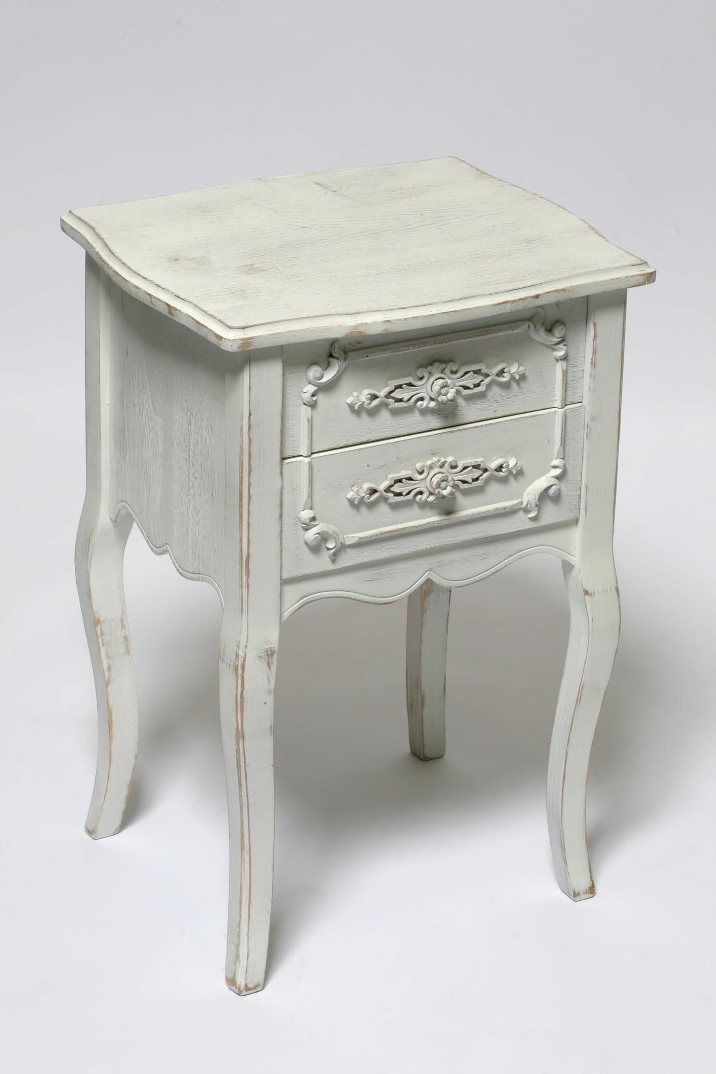 Small antique white side table httpcielobautista fine looking double drawers antique white bedside table with oak wood materials and white background images for furnitures modern master bedroom furnitures watchthetrailerfo