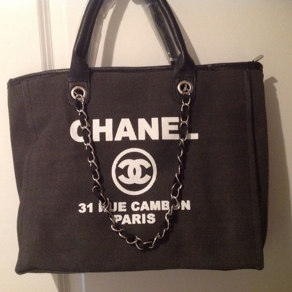440ecab65aa9 Authentic Chanel VIP Gift Tote Authentic Chanel VIP Gift Large Chanel Tote.  It comes with a matching Chanel velvet pouch. Brand New wrapped in the  original ...