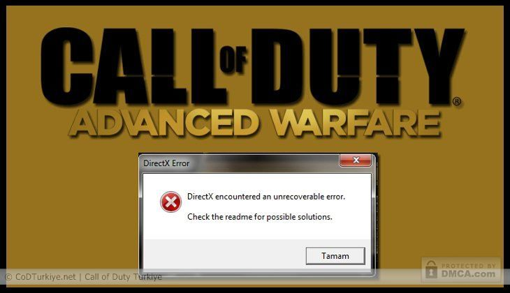directx has encountered an unrecoverable error modern warfare 2 solution