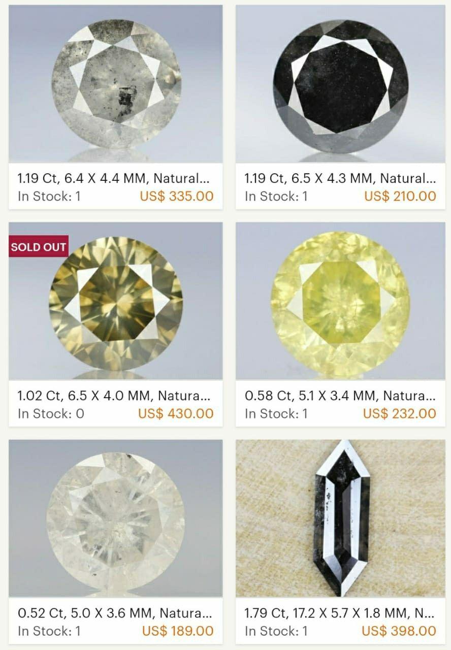 Natural Salt And Pepper Diamond Fancy Color Diamond 1.28 Carat Natural Diamond Yellow Hexagon Shape Rose Cut Natural Loose Diamond