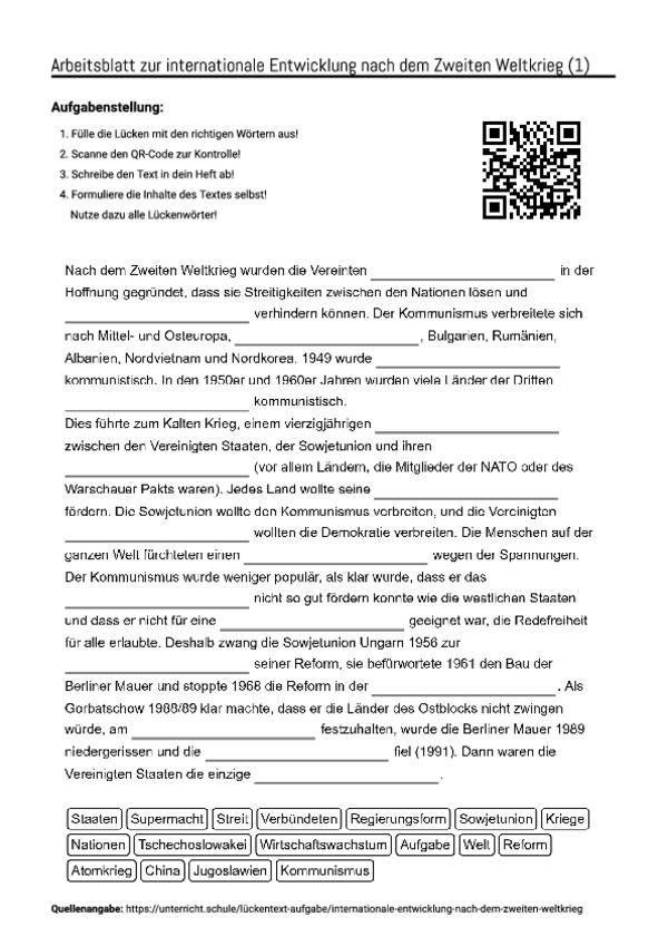 Outstanding Weltkrieg Ii Arbeitsblatt Gallery - Mathe Arbeitsblatt ...