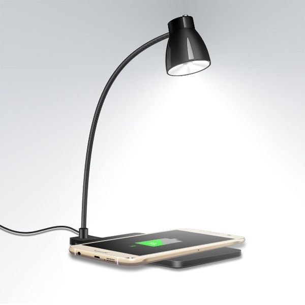 Table Lamp And Wireless Charger Table Lamp Wireless Charging Pad Led Table Lamp