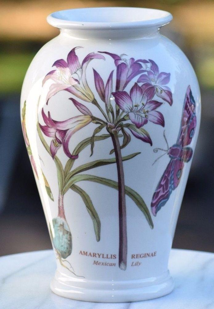 Rare Retro 1972 Portmeirion Botanic Garden Vase Mexican Lily
