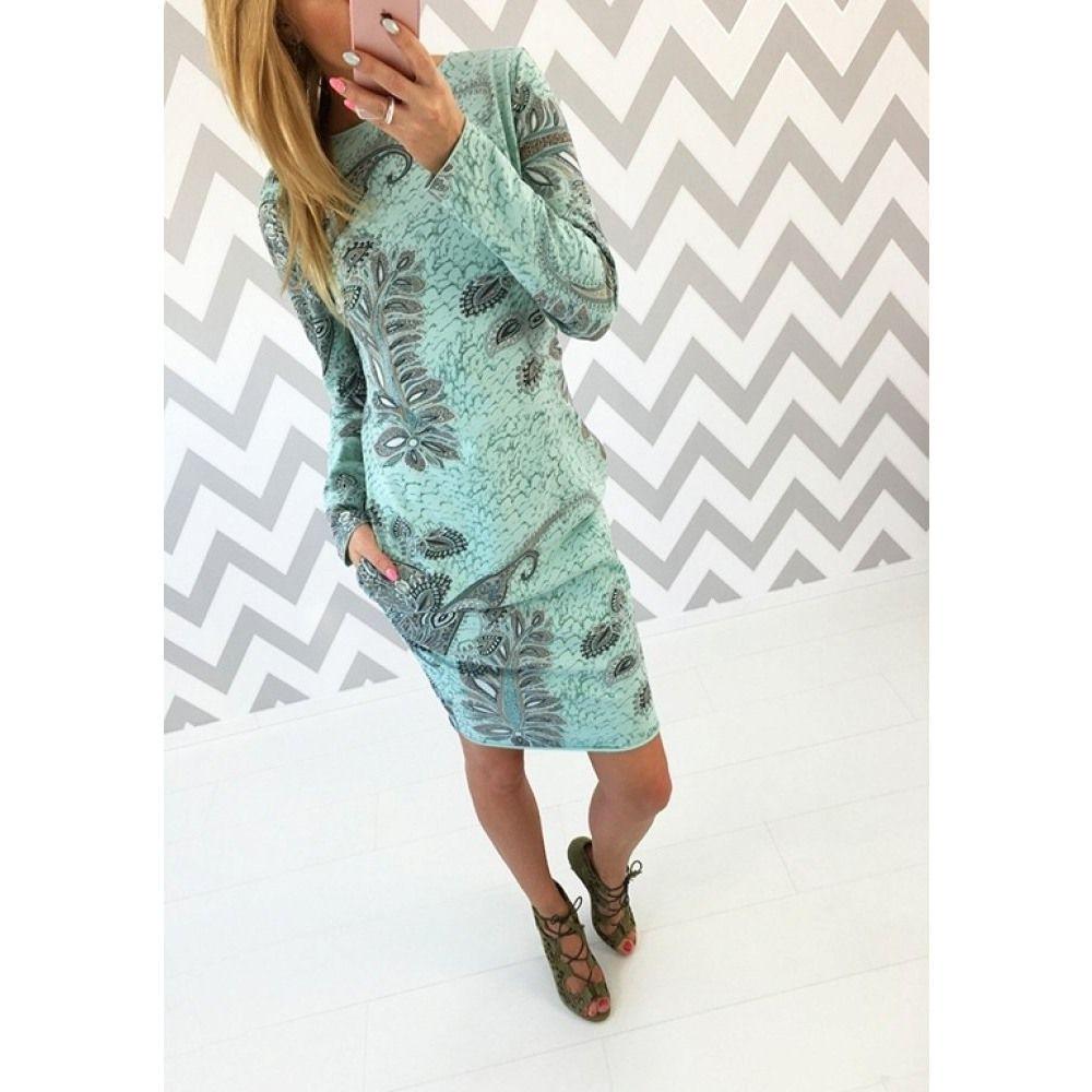 NEU: Kleid italienisch, Baumwolltunika, mint, unisize aus Großhandel ...