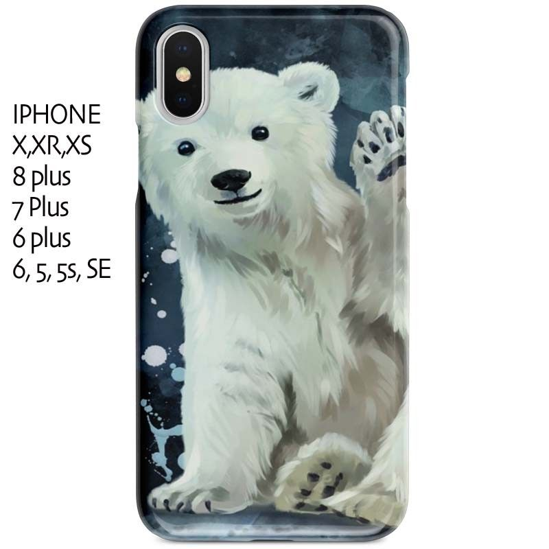 Coque iPhone X ours Polaire. Housse en gel silicone indestructible ...