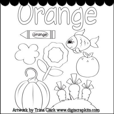 Color Orange Coloring Pages Learning colors, Coloring
