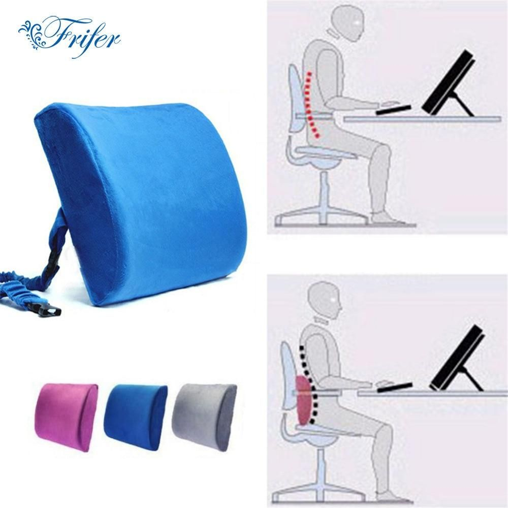 Ergonomic Memory Foam Pillows Car Office Chair Back Seat Cushion