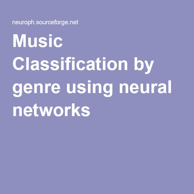Music Classification by genre using neural networks | Audio