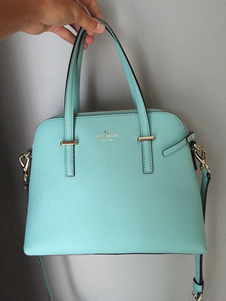 Kate Spade Cedar Street Maise Tiffany Blue Handbag Purse Crossbody Tiffany Blauw Handtassen Tassen