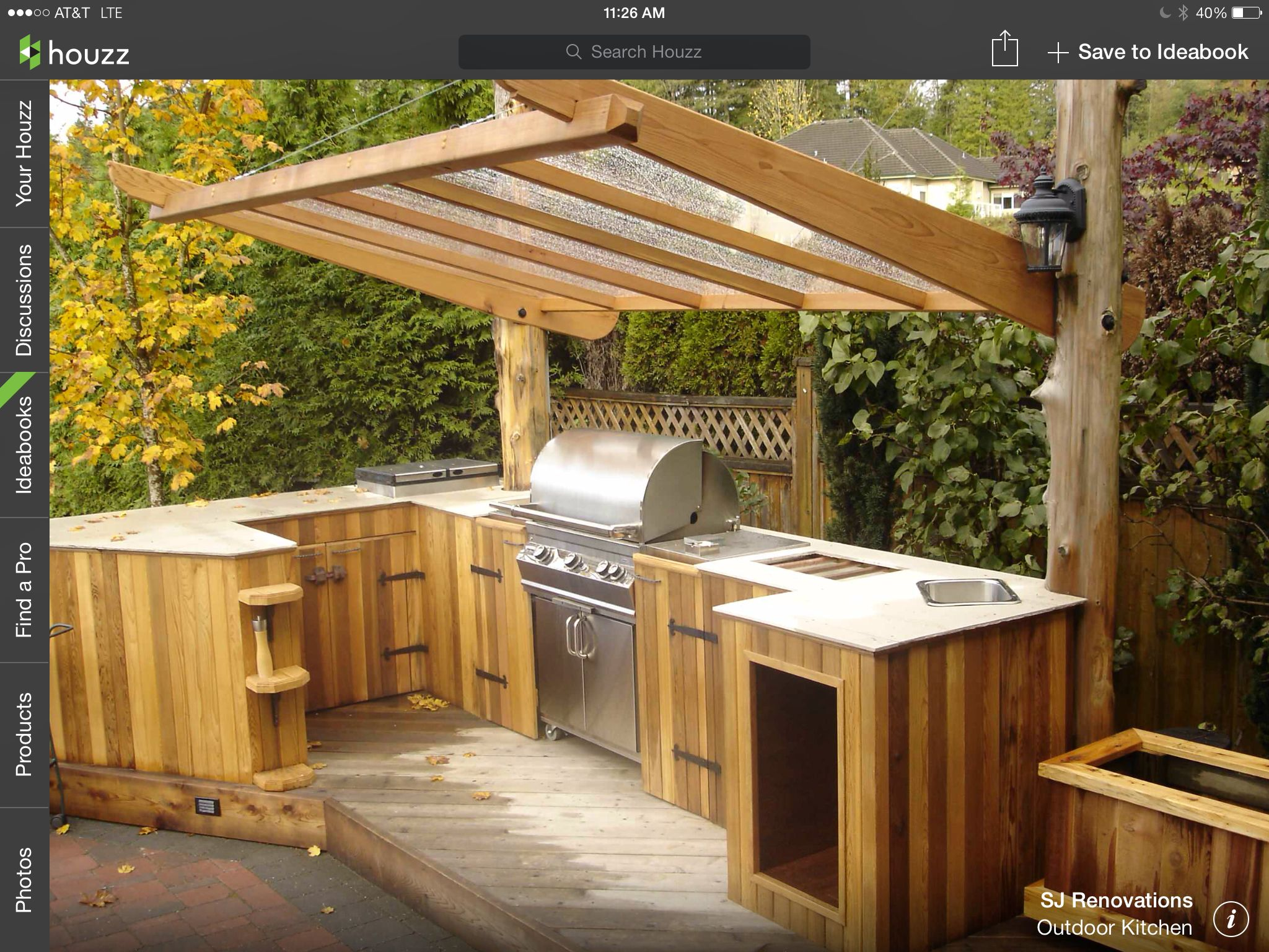 Simple outdoor kitchen hmmmm wood in South Florida ...