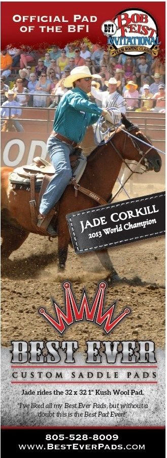 Jade Corkill Professional Team Roper Best Ever Pads Rider PRCA Career Earnings 109456900