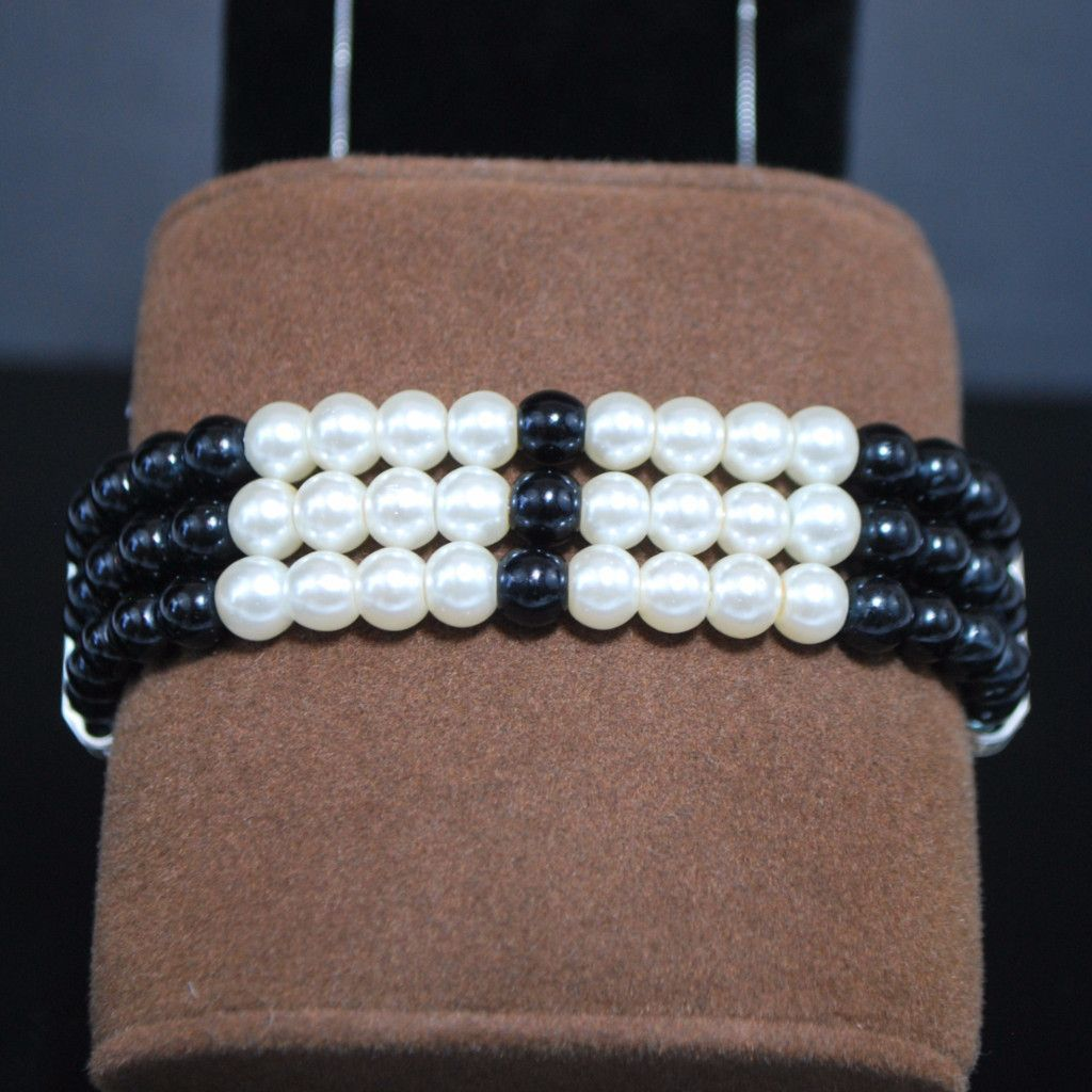 Black and White Colorblock Bracelets | Products | Pinterest | Products
