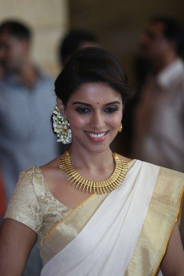 Lovely asin l for more foundpix asin tamilactress actress asin wearing kerala traditional saree cute beautiful stills at genelia wedding bash altavistaventures Gallery