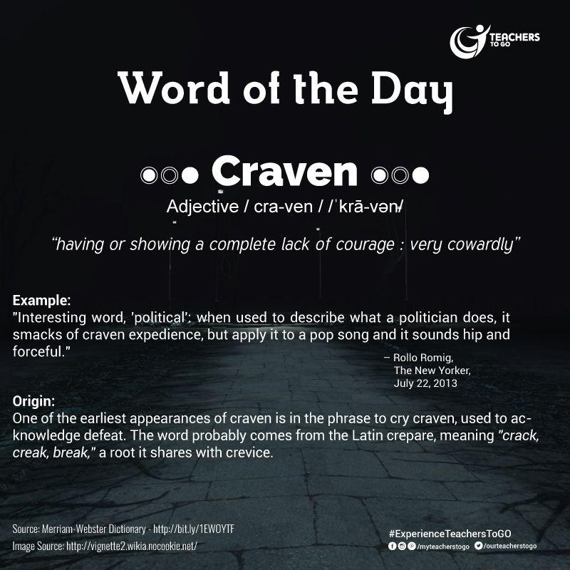 TTG Word of the Day!  Follow us on twitter.com/ourteacherstogo