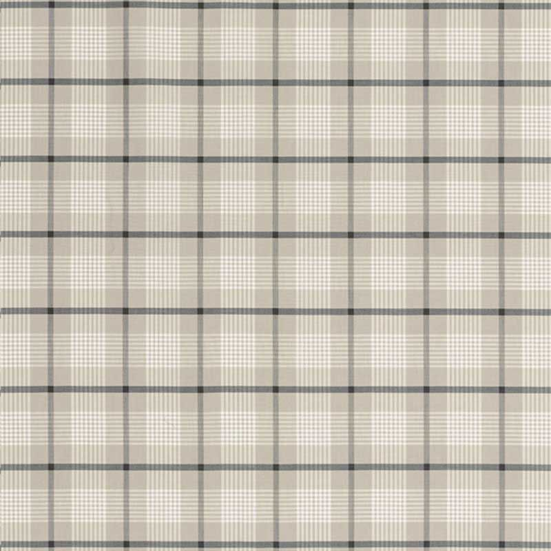 Schumacher St. Lucia Plaid 68022 Stone Fabric
