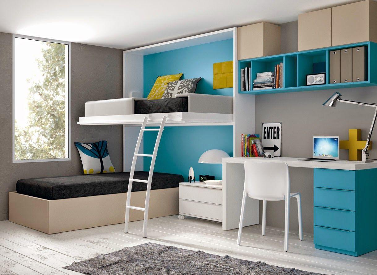 Dormitorios juveniles para dos hermanos dormitorios - Escritorio habitacion ...