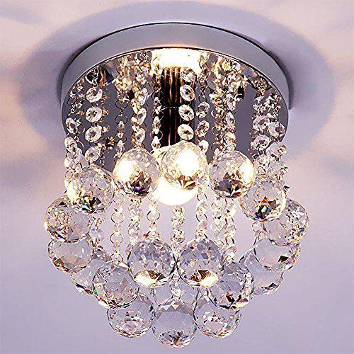 Zeefo Kristallkronleuchter Mini Stil Moderne Dekor Flac Https Www Amazon De Dp B01lx Kronleuchter Kristall Deckenlampe Kristall Deckenlampe Kinderzimmer