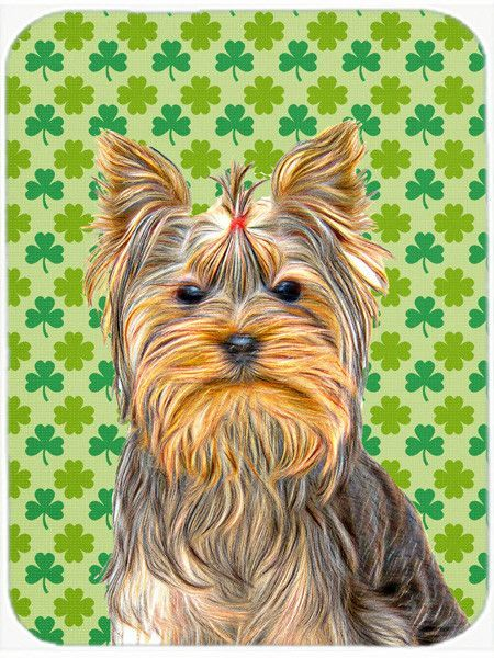 St. Patricku0027s Day Shamrock Yorkie / Yorkshire Terrier Mouse Pad, Hot Pad Or  Trivet
