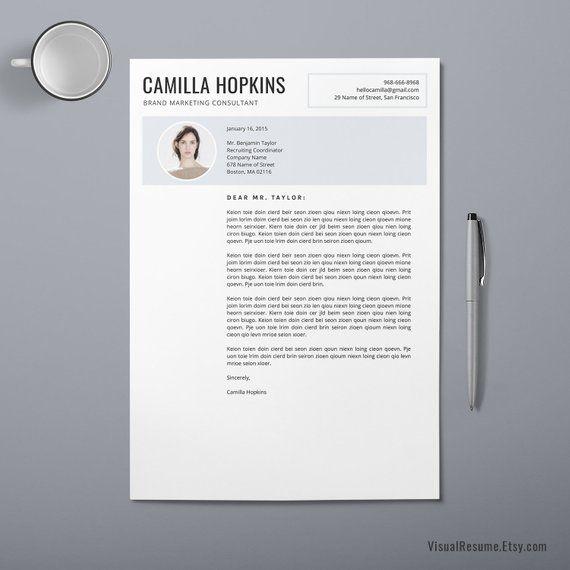 2019 Creative Resume CV Template, Digital Office Word ...