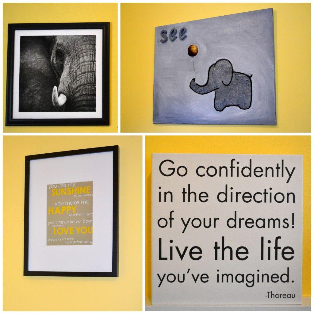 Modern Black and White Safari | Yellow Nursery | Pinterest | Black ...