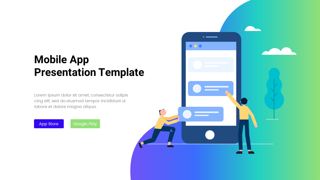 Mobile App Powerpoint Template App, Mobile, Template,