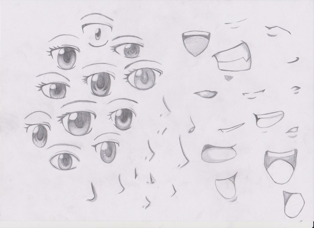 Manga Eyes Noses And Mouths Facedrawing Nose Drawing Anime Nose Anime Drawings