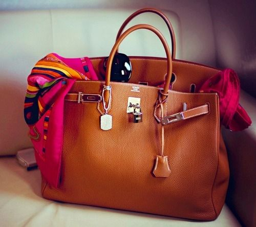 perfect brown leather handbag