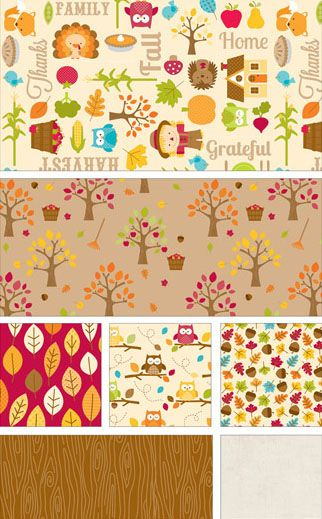 NEW FABRIC LINE: Happy Harvest by Doodlebug Designs for Riley Blake Designs