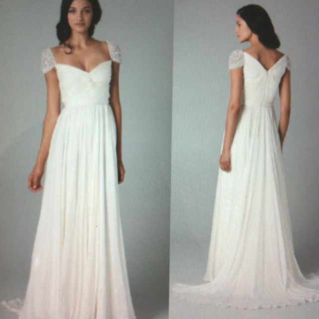 Simple 2nd Wedding Ideas: Very Elegant Yet Simple Grecian Wedding Gown.