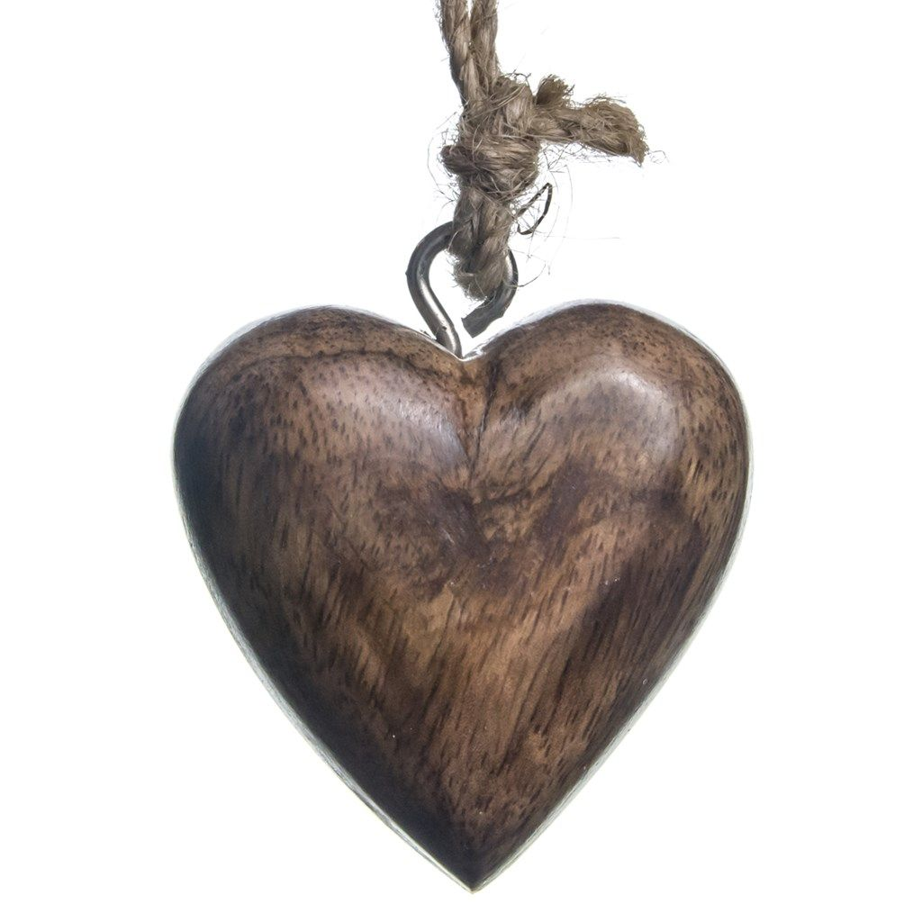 Wooden Heart Ornament - Natural | Woodland Christmas | Cracker Barrel Old Country Store - Cracker Barrel Old Country Store