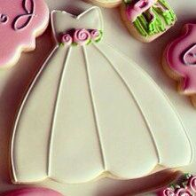 Decorated Wedding Dress Sugar Cookies by SugarMamabyKim on Etsy