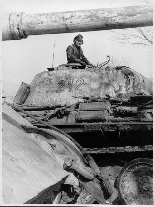 Panther likely an LAH vehicle photographed in Hungary Jan-March 1945.