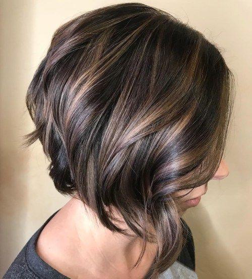 brunette hair #haar #hair 70 fabelhafte abgehackte Bob Frisuren #abgehackte #fabelhafte #frisuren