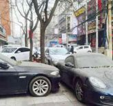 Luxury cars blocking each other fight china not move one year