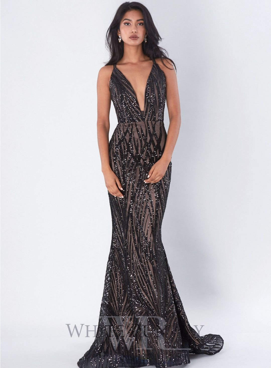 Cari gown an elegant showstopping gown featuring a deep vneck