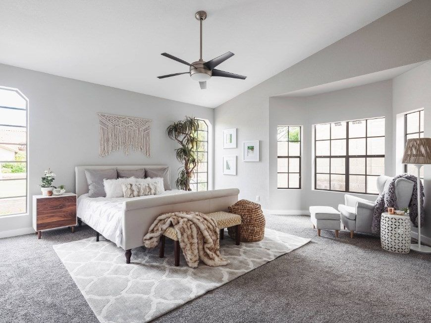 70 Gray Primary Bedroom Ideas Photos Gray Master Bedroom Grey Walls And Carpet Gray Bedroom Walls