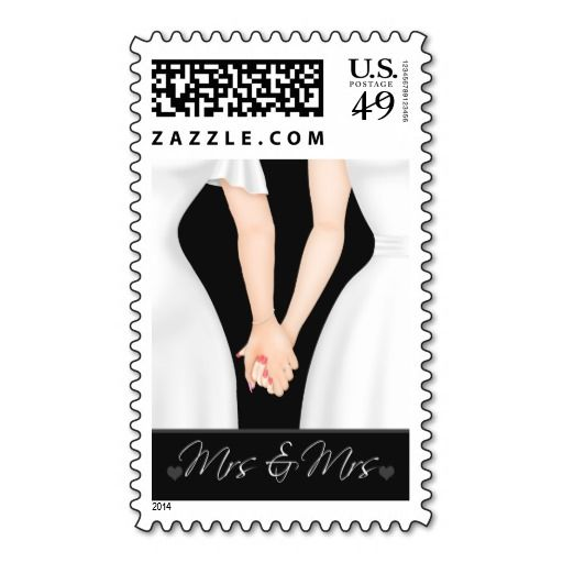 Two Brides In Dresses Lesbian Wedding Postage