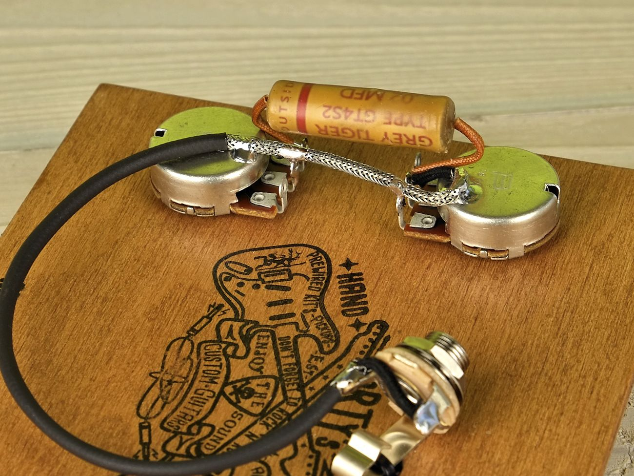 hight resolution of arty s custom guitars vintage les paul junior jr pre wired prewired kit grey tiger bourns low torque wiring assembly harness set artys prewired 59 50 s