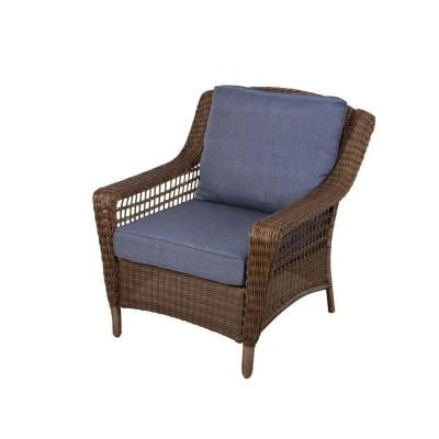 hampton bay spring haven brown all weather wicker patio lounge