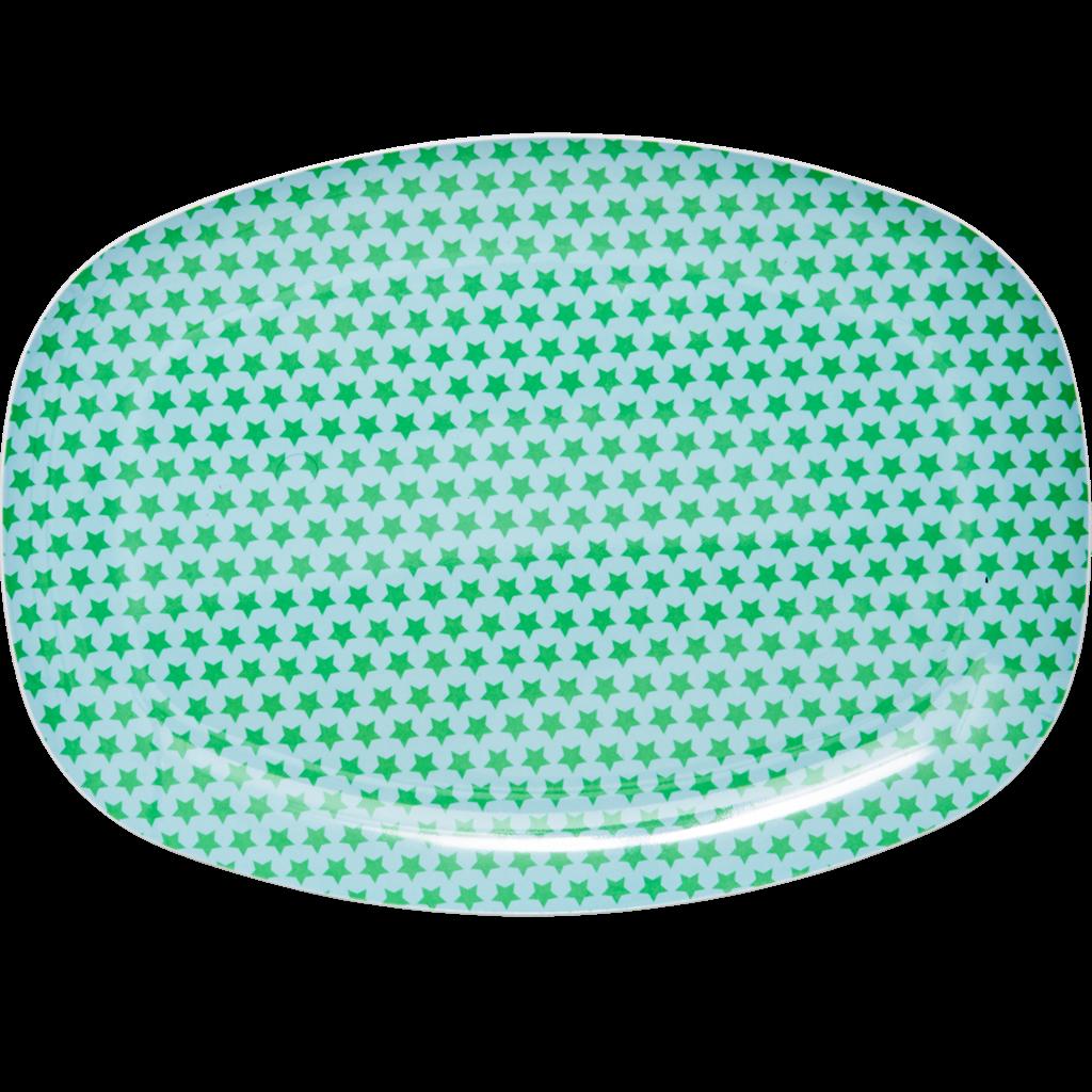 Rice DK Blue \u0026 Green Star Rectangular Melamine Plate  sc 1 st  Pinterest & Rice DK Blue \u0026 Green Star Rectangular Melamine Plate | Kids dining ...