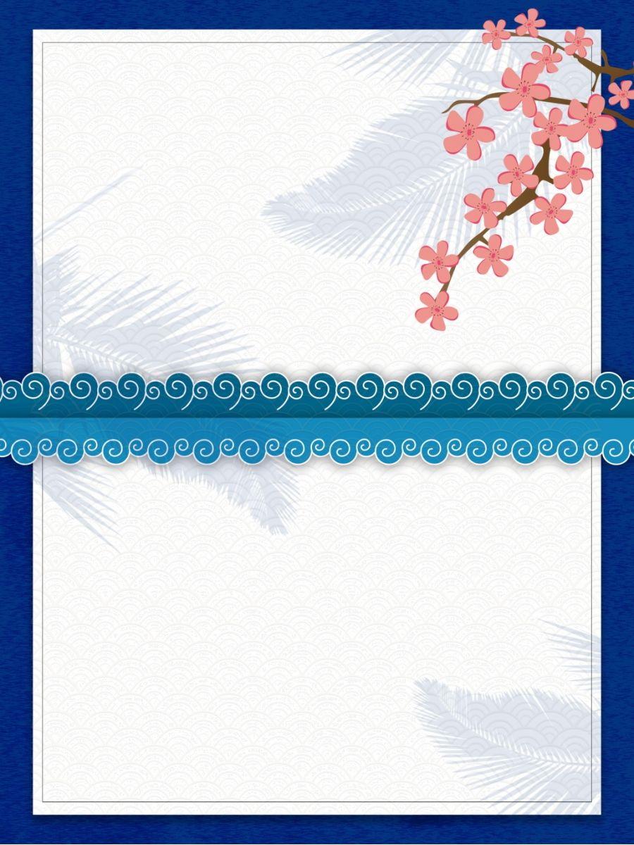 Latar Belakang Sempadan Latar Belakang Geometri Bahan Baris Grafik Blue Flowers Background Flower Wallpaper Flower Backgrounds