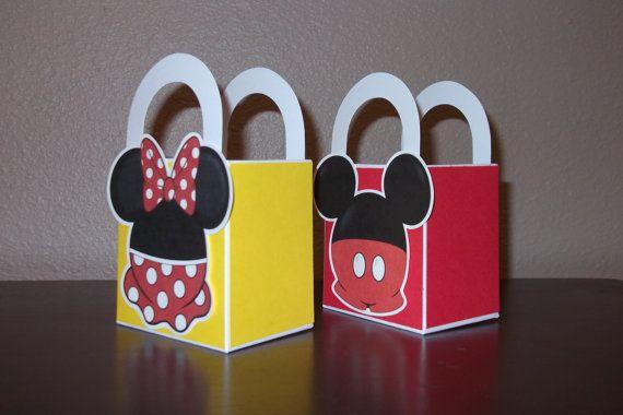 Mickey y Minnie 3 x 3 bolsas de regalo de por ScrapbookSolutions