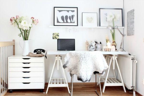 Werkkamer schragen bureau interieur inspiratie pinterest