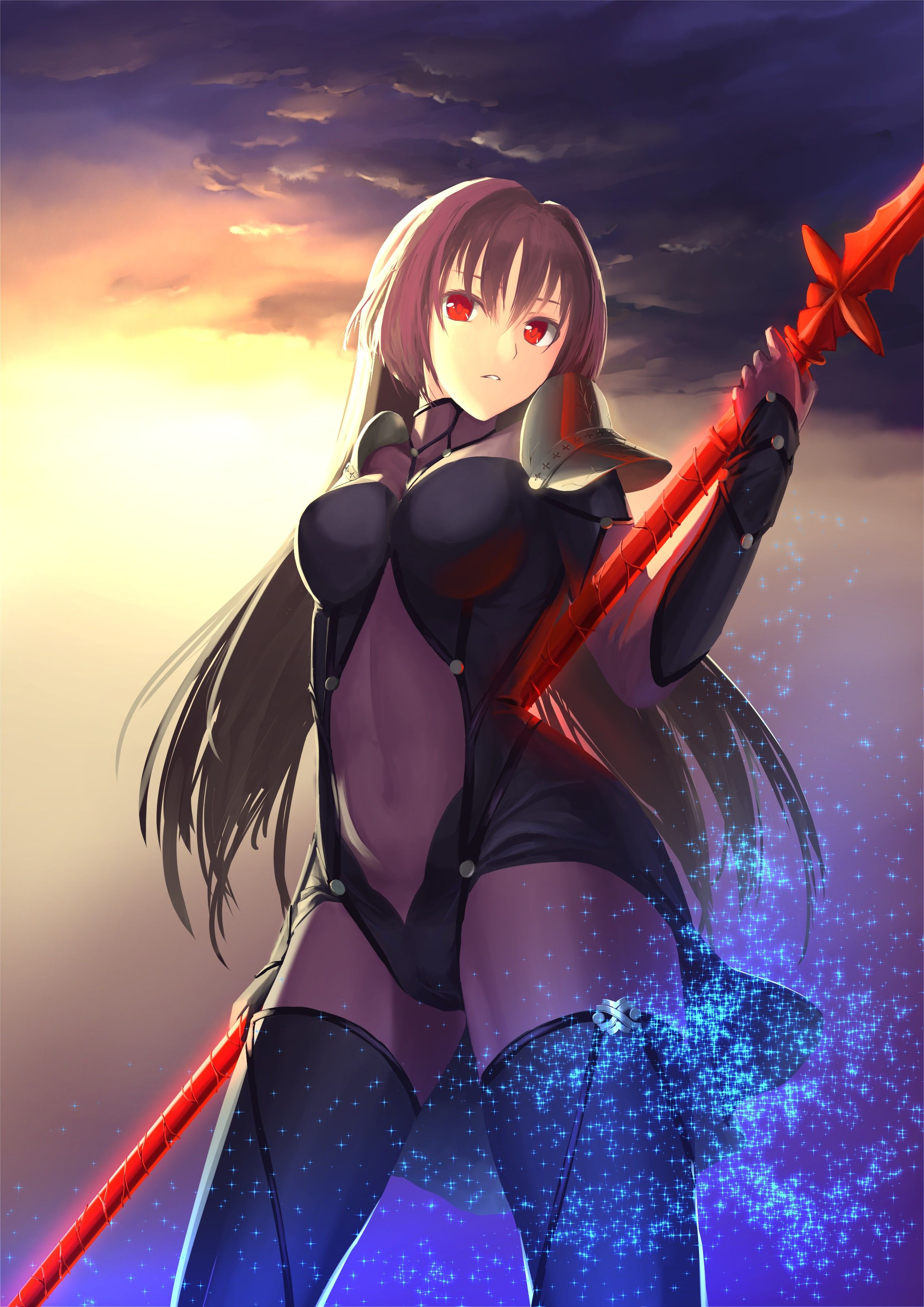 Red Eyes Spears Long Hair Fate Series Fate Grand Order Lancer Fate